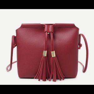 Handbags - NWT Red wine crossbody bag